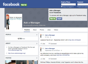 ask a manager facebook