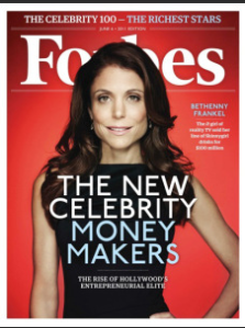 Bethenny Frankel and her products featured in Forbes Magazine