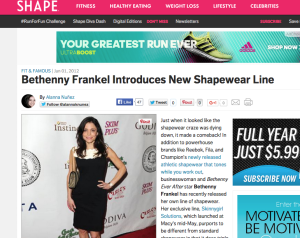 Skinnygirl's Shapewear Line Featured in Shape Magazine